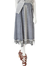 Romeo + Juliet Couture Abstract Print Woven Skirt