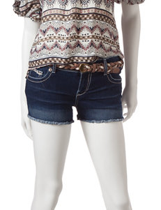 Amethyst Dark Blue - Rinse Denim Shorts