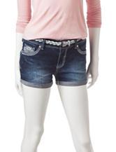 Amethyst Dark Wash Mid-Rise Denim Shorts