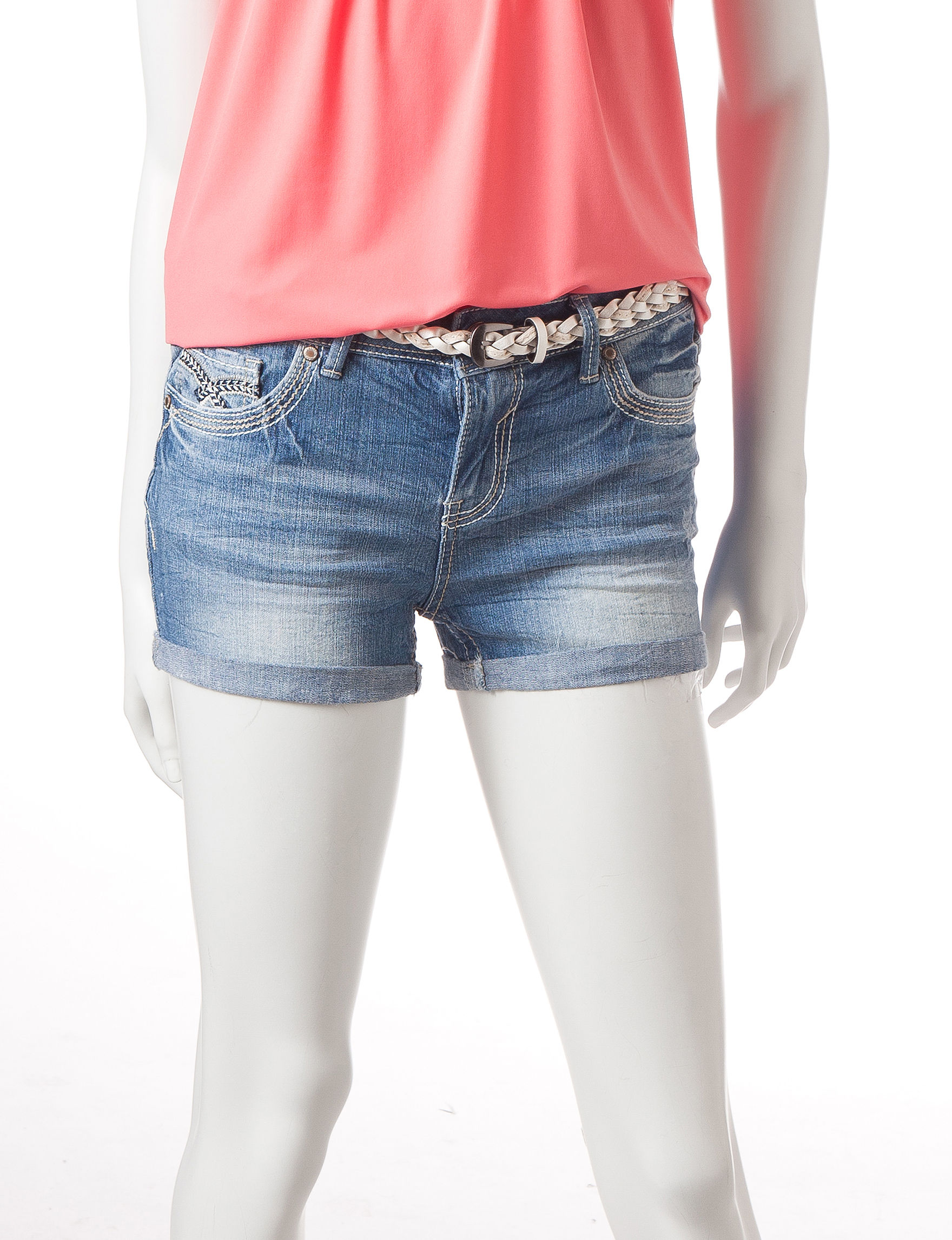 Amethyst Medium Wash Denim Shorts