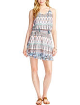 Jessica Simpson Multicolor Ikat Print Halter Dress