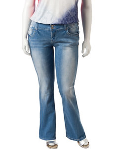 Amethyst Juniors-plus Light Wash Bootcut Jeans