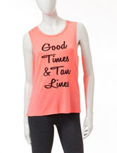 Miss Chevious Coral Good Times & Tan Lines Tank Top