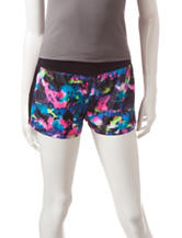 Almost Famous Multicolor Watercolor Print Running Shorts