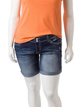 Amethyst Medium Wash Hourglass Denim Shorts