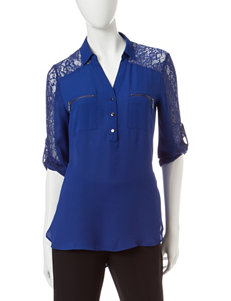 My Michelle Cobalt Blue Shirts & Blouses