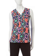 My Michelle Multicolor Abstract Print Woven Top