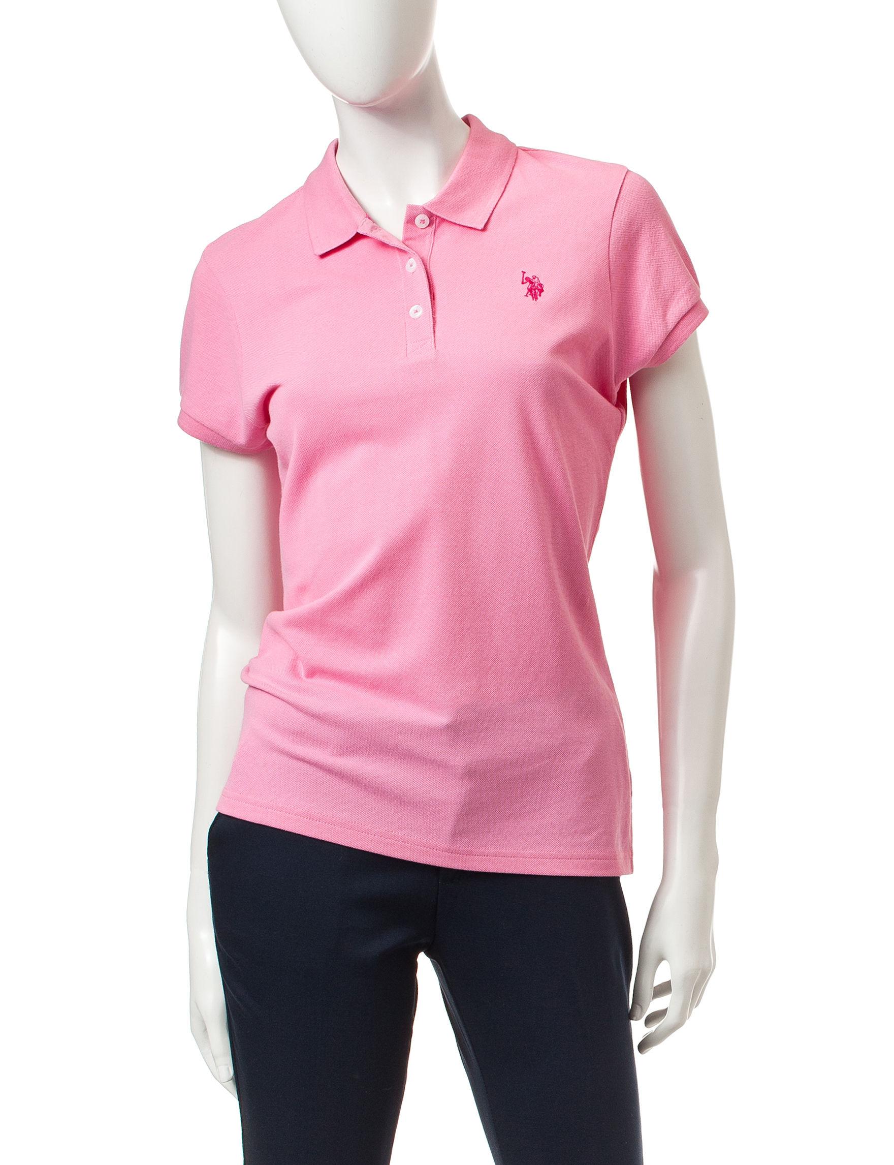 U.S. Polo Assn. Bright Pink Polos