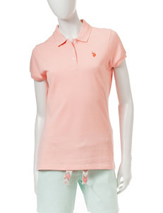 U.S. Polo Assn. Dark Orange Shirts & Blouses