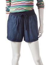 Signature Studio Soft Denim Chambray Shorts