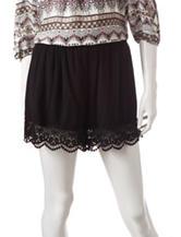 Signature Studio Black Lace Trimmed Shorts