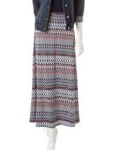 Signature Studio Multicolor Aztec Print Skirt