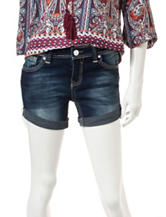 Almost Famous Dark Wash Roll-Cuff Shorts