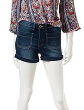Almost Famous Dark Wash High Waist Shorts