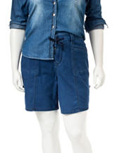 Unionbay® Juniors-plus Medium Wash Convertible Shorts