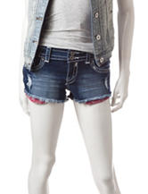 Almost Famous Bandana Pocket Cut-Off Denim Shorts