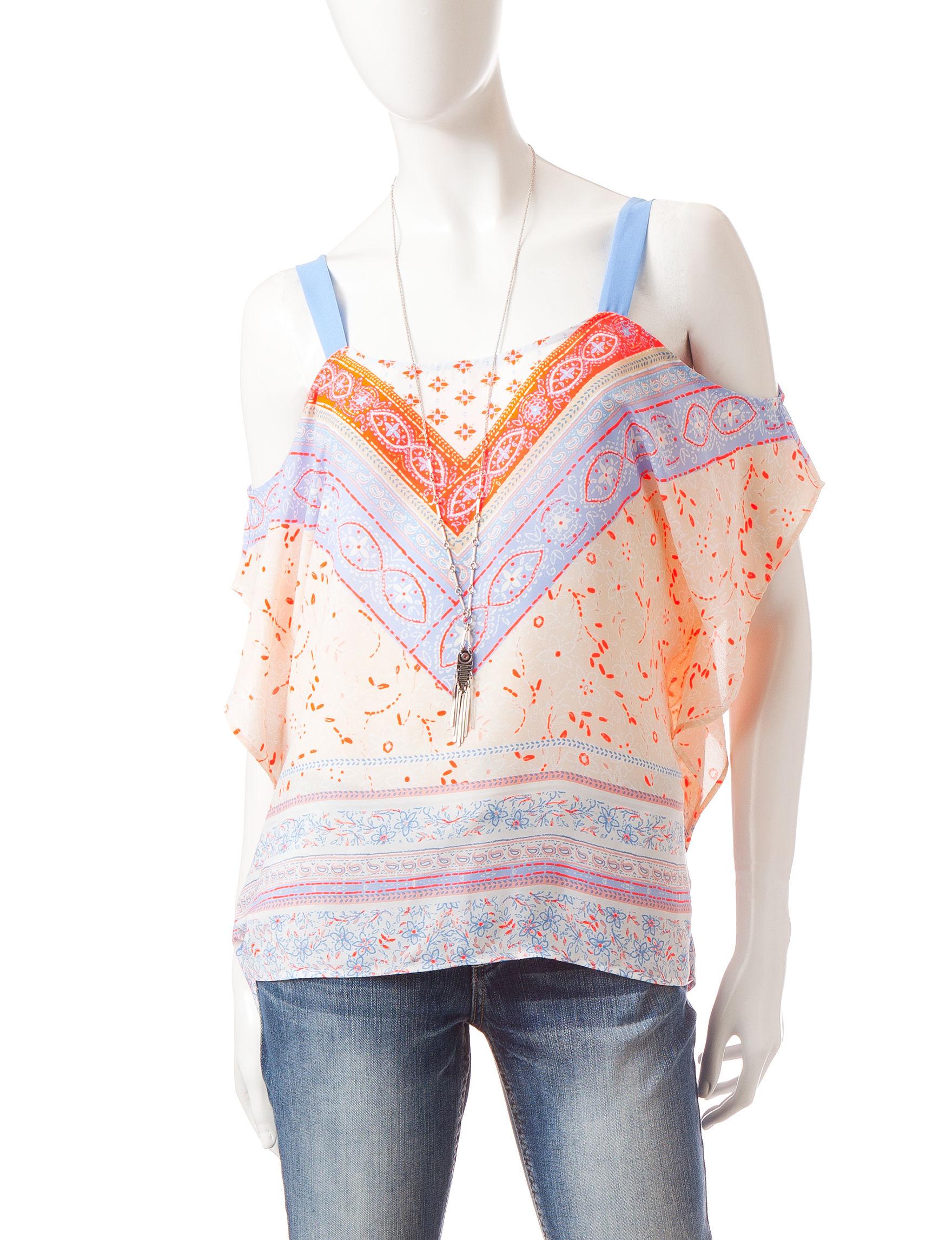 Heart Soul Coral Shirts & Blouses