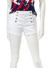 Almost Famous White High Waist Sailor Shorts