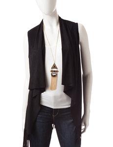 Heart Soul 3-pc. Faux Suede Vest & Cami Set with Necklace