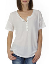 Unionbay® White Lace Back Ribbed Top