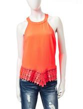 Heart Soul Coral Crochet Halter Top