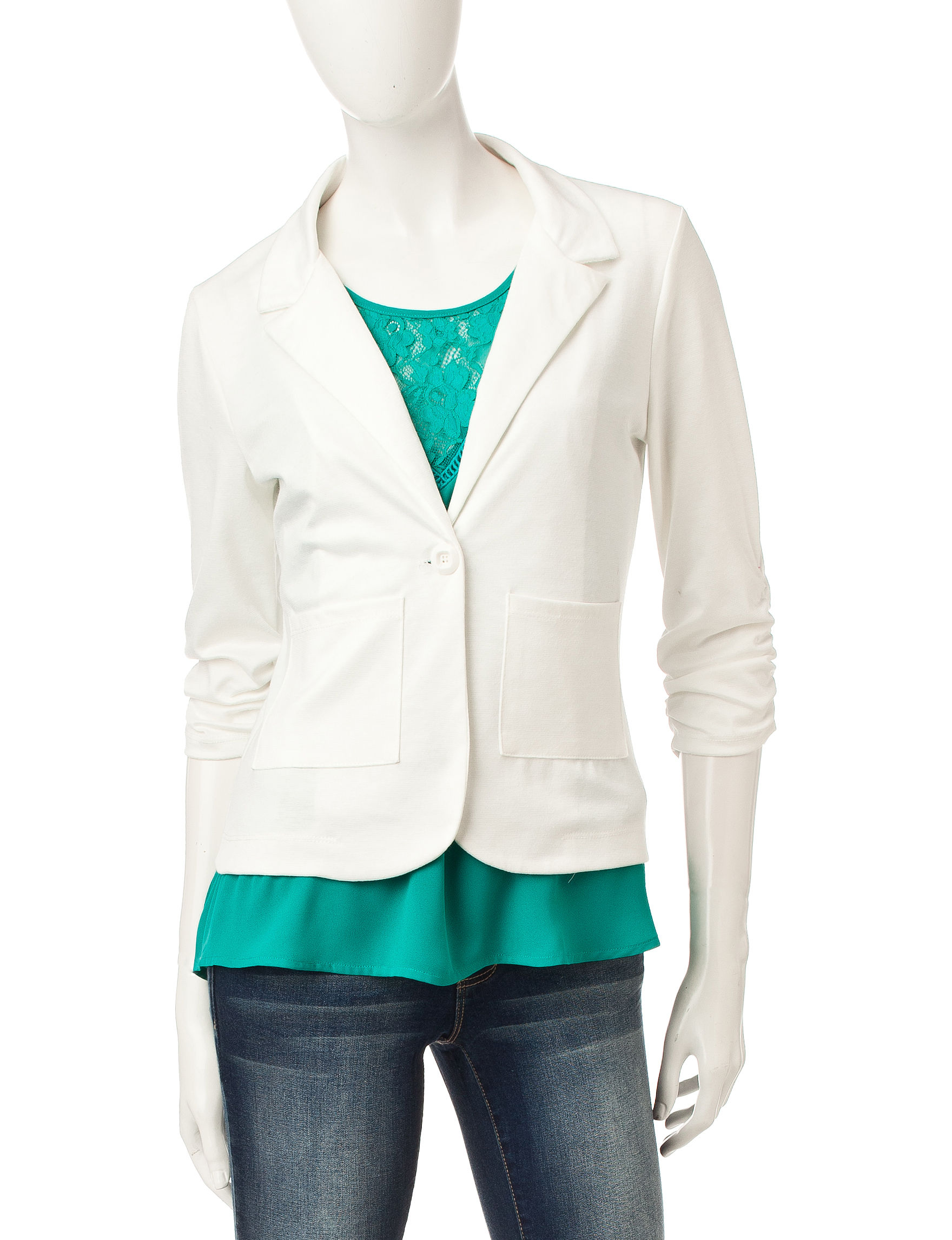 Living Doll Ivory Lightweight Jackets & Blazers