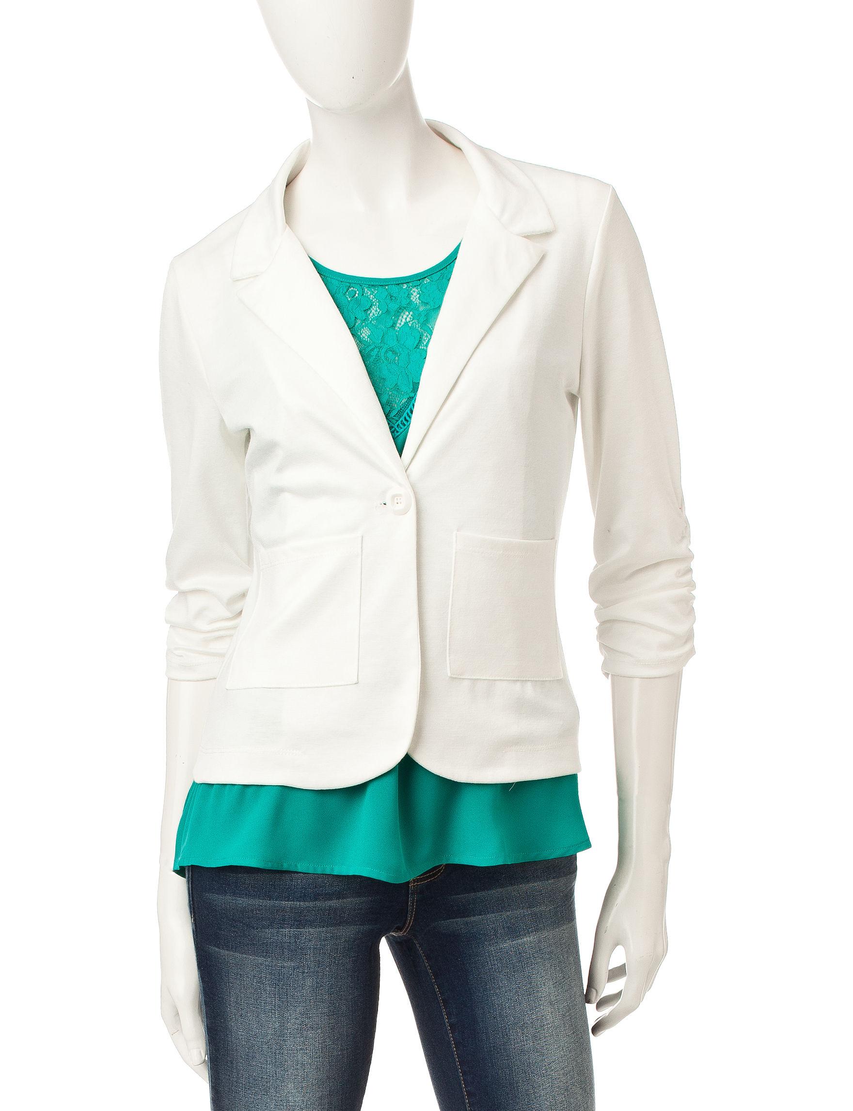 Living Doll Ivory Lightweight Jackets & Blazers
