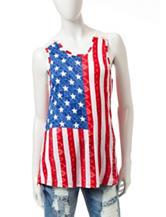 Wishful Park Stars & Stripes Crochet Tank Top