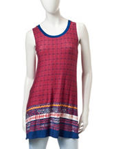 Wishful Park Multicolor Tribal Print Tunic Top