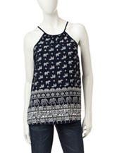 Wishful Park Black & White Elephant Print Top