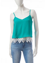 Wishful Park Lace Hem Tank Top