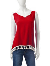 Wishful Park Tassel Trim Tank Top