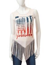 Living Doll American Flag Forever Tank Top