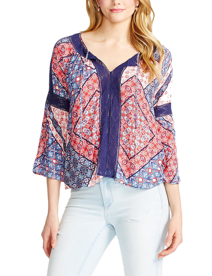 Jessica Simpson Red / White / Blue Shirts & Blouses