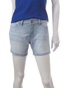 Signature Studio Blue Denim Shorts Hi Waist