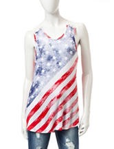 Wishful Park Crochet American Flag Tank Top