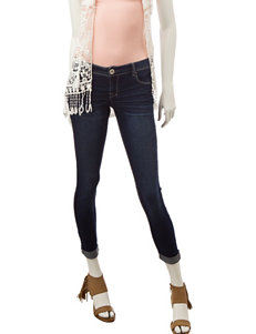 Amethyst Dark Wash Roll-Cuff Skinny Jeans