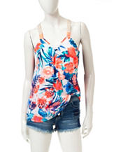 Jolt Multicolor Tropical Floral Print Top