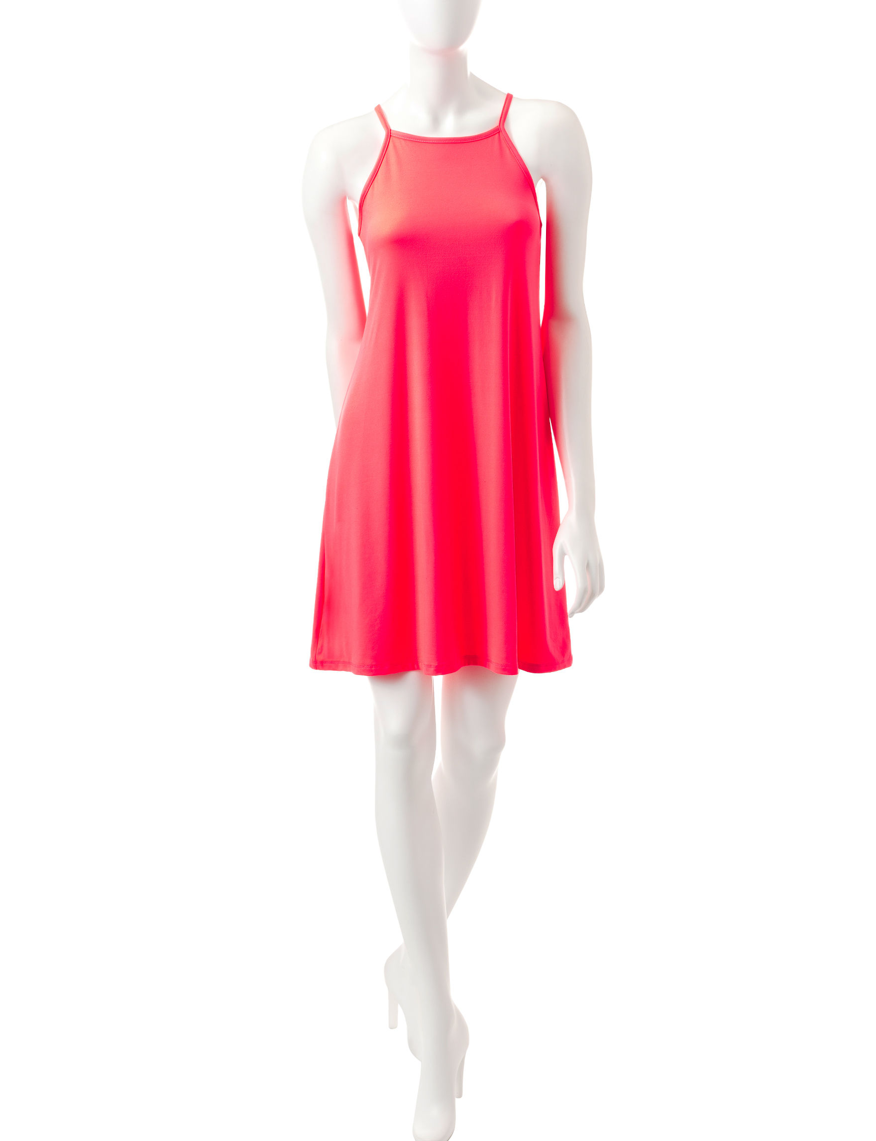 Justify Coral Shift Dresses