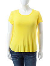 Wishful Park Junior-plus Yellow Lace Accent Top