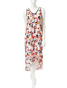 Kensie Abstract Print Hi-Lo Maxi Dress