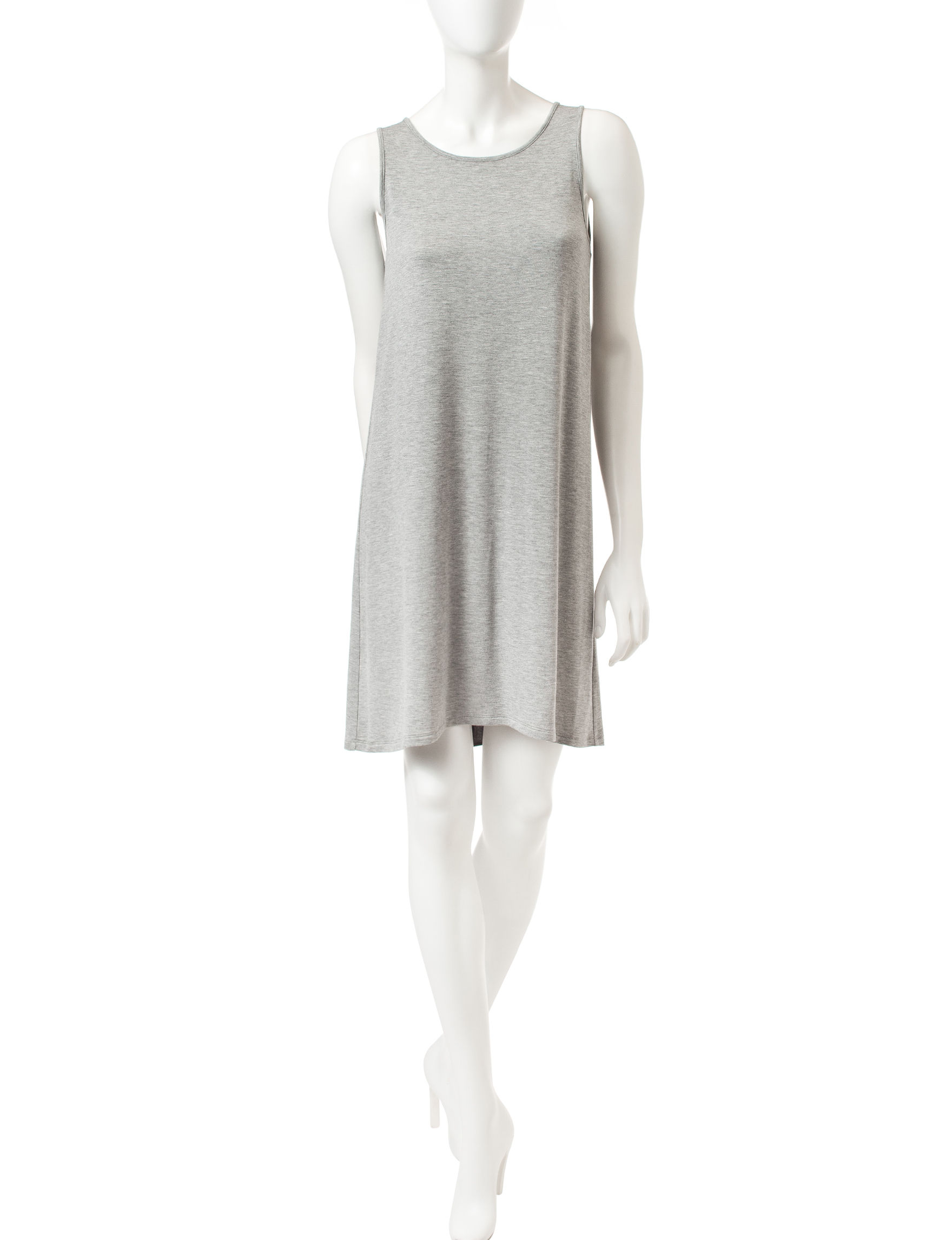 Kensie Grey / Black Sheath Dresses
