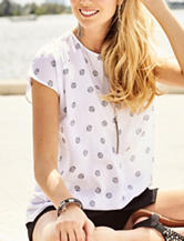 Kensie White Seashell Print Top
