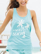 Almost Famous Mint Love Is A Beach Tank Top