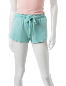 Almost Famous Mint Snow Wash Shorts