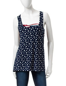 Wallflower Navy Tank Top with American Flag Bandeau
