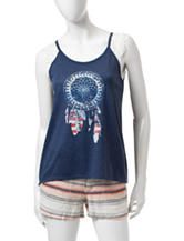 Almost Famous Americana Dreamcatcher Top
