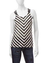 Almost Famous Chevron Woven Top
