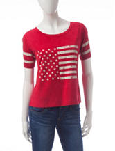 Miss Chevious Red American Flag Top