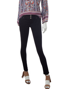 Amethyst Black High-Waist Bodycon Jeans